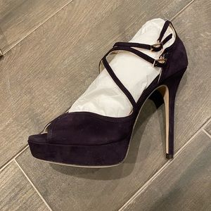 New Authentic Jimmy Choo Fairview Suede Heel
